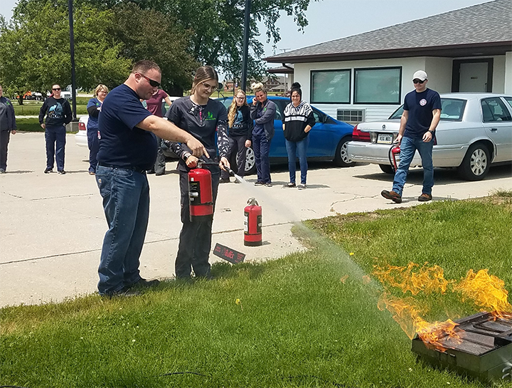 Hebron Animal Hospital Thanks Lowell Fire Department for Their Fire Safety Lesson